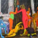 Ben, Dervis, Kardesyan 139.00 x 150.00 cm. Tual üzerine akrilik