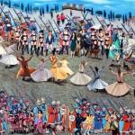 15 - ' tehlıkelı gecıs ' 125x155 cm tuval uzerıne yaglıboya- oıl on canvas 2012