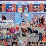 16 - ' karsılama ' 120 x150 cm tuval üzerine yaglıboya 2012-13