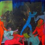"""2- """" isimsiz """"170 x 136 cm ahsap panel uzerine karısık teknik 2008-09"""