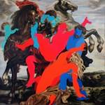 23 - ' yuzssuzler serısı ' 150x150 cm tuval üzerine yağlıboya 2013