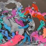 33 - ' yüssüzler pop gravür ' tuval üzerine karışık teknik 2016