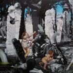 46 -' mezar tasım ' 99 x 135 cm tuval uzerıne yaglıboya 2017