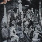 47 - ' ölüm allahım emri ' 106 x 83 cm tuyval üzerine yaglıboya 2016-17