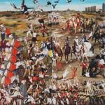 Fikirtepe Meydan Muharebesi 170.00 x 290.00 cm. 2012-2013 Tual üzerine yağlıboya İmzalı
