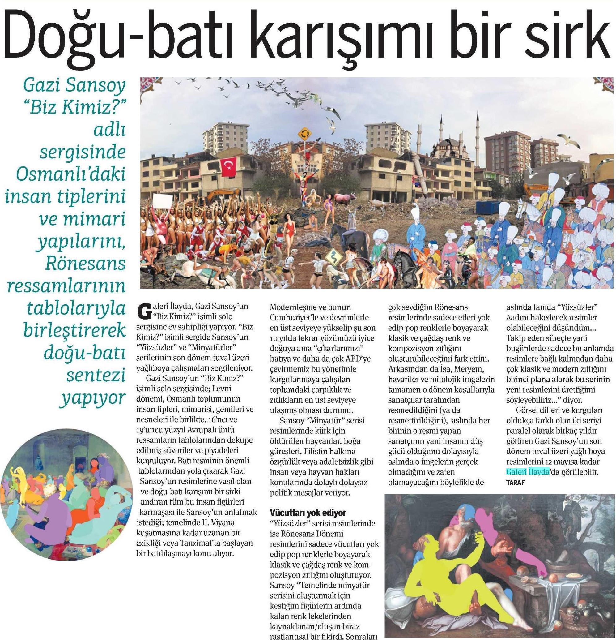 taraf gazetesı mayıs 2013