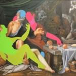 110.00 x 166.00 cm. 2013 Tual üzerine yağlıboya