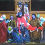 şakacı -joker 150.00 x 188.00 cm. 213 Tual üzerine yağlıboya